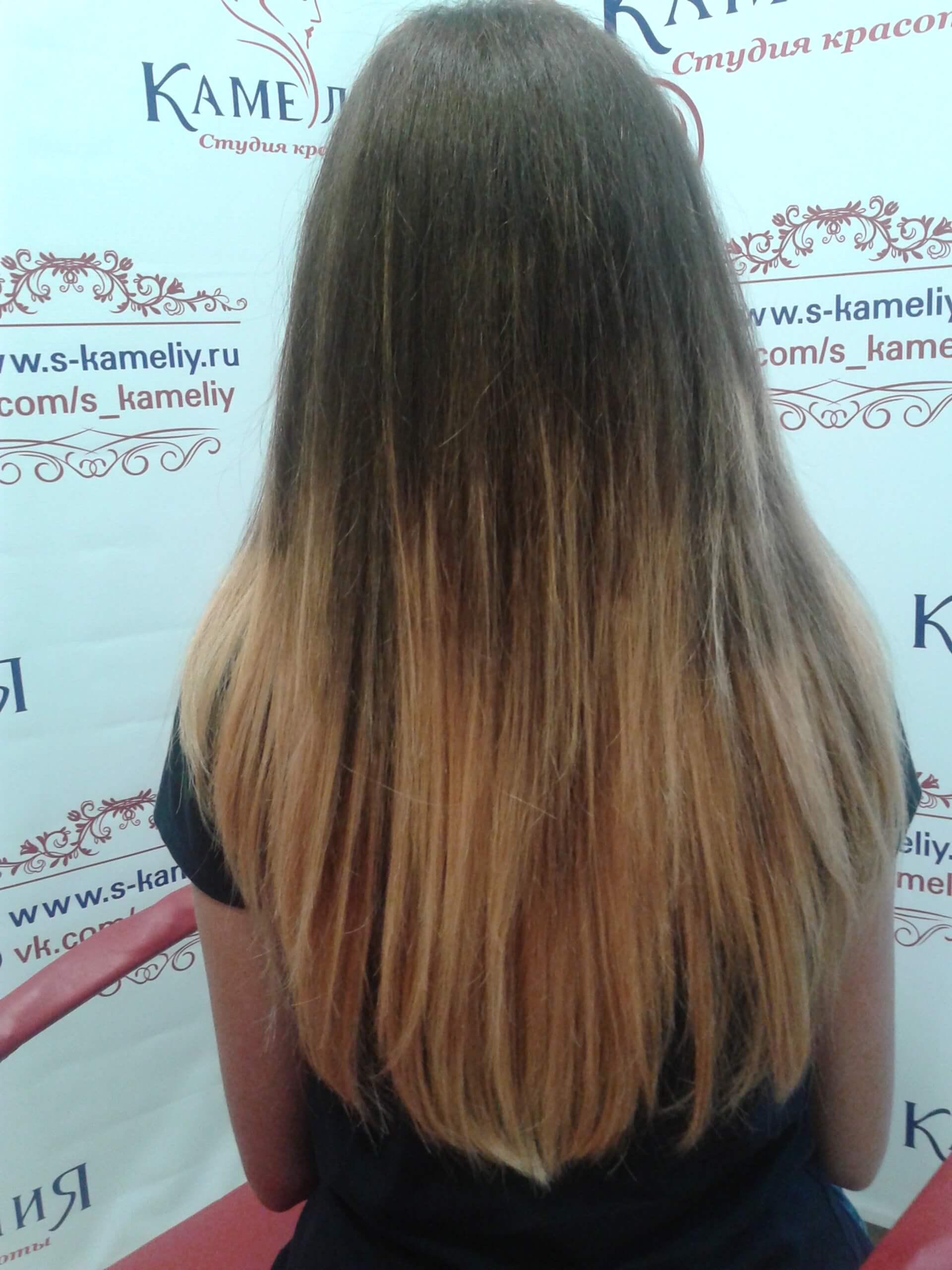 Услуги окрашивание волос